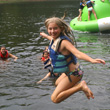 A camper having fun at an Alabama Summer Camp