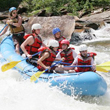 An image of kids rafting at an Alabama Summer Camp